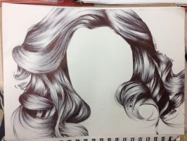 Pen Hair Study #2 by AmateurDrawer