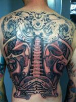 Biomechanical Backpiece in Progress by kayden7