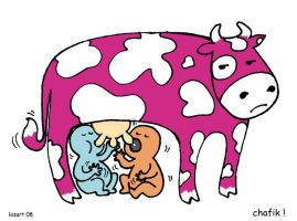 kid and cow- miam miam- by lozart