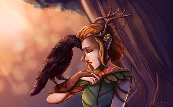 Critical Role - The Raven and the Druid by riku-gurl