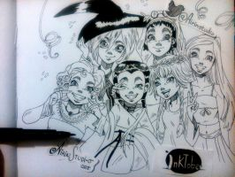Inktober 4/31 Witch Halloween by AirinStudio