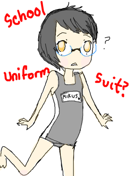 School issued Swimsuit by berryflavoredpocky