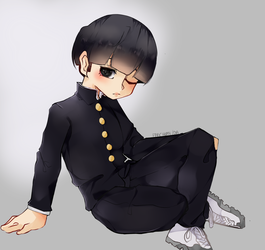 wow finished art // mob psycho fanart by fanchumi
