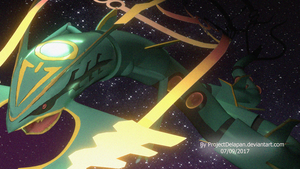 Mega Rayquaza Pokemon (3D Fansart) by projectdelapan
