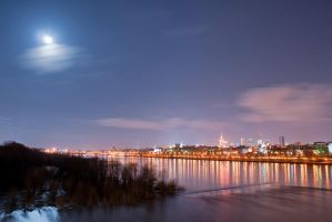Warsaw and the moon by Dunadan-from-Bag-End