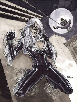 Black Cat Sketch 3 by MahmudAsrar