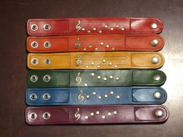 Zelda Ocarina Songs Wristbands 2 by Spiked-Fox