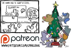 Patreon update: Cat School, Fuzzy Christmas page 8 by bakertoons