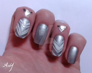Metallic Silver by AnyRainbow