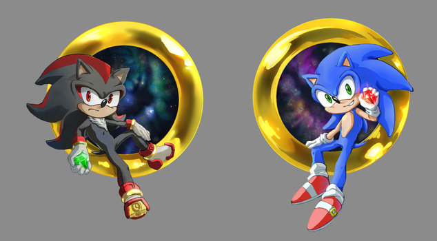 Sonic and Shadow by matty453917