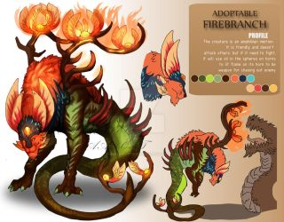 ADOPTABLE Close : FIREBRANCH [Auction][paypal] by Ma-Adopt