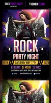 Rock Party Night Flyer Template by odindesign