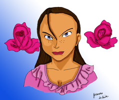 Woman colored by fighterxaos