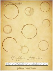 UNRESTRICTED - Small Coffee Stains Brushes by frozenstocks