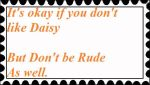 Anti Rude Stamp ( Daisy ) by PhantomMasterRamos89
