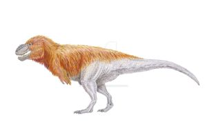 Contemporary (ish) T. rex by IllustratedMenagerie