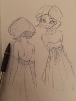 Lumiere sketches by MoonLightRose17