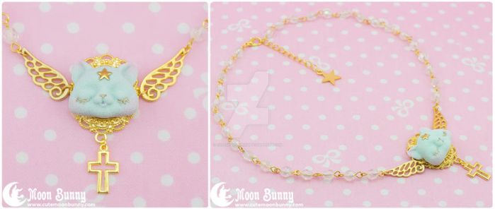Dreamy star kitten Necklace  5 by CuteMoonbunny