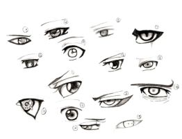 Naruto and Bleach Eyes by nejean