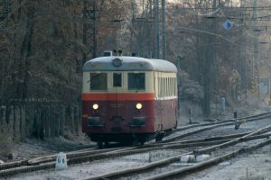 Train M262 firmly cutting through frosty morning by ondrejZapletal