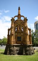 Monument in the Melbourne Botanic Garden by Charlene-Art