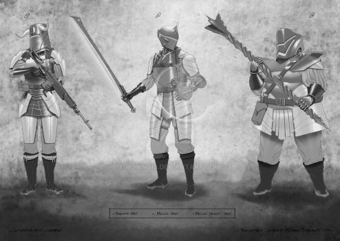 The Governors Guard Line Art by RONIN013