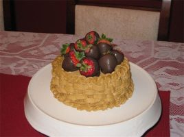 Basket Weave Cake by Deathbypuddle