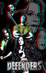 The Defenders by Joe Quesada in 3D Anaglyph by xmancyclops