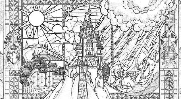Richard67915 7 0 Beauty Beast Castle Coloring Page By