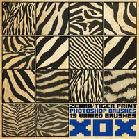 Zebra/Tiger Print Brush Pack [2013] by radroachmeat