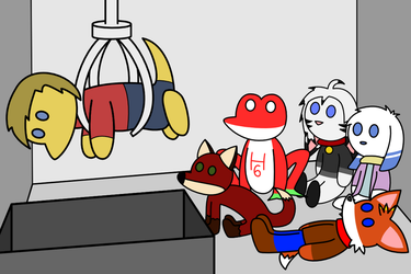 Inside the claw machine! by lizard-socks