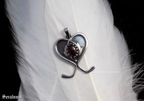 'Heart of victory', sterling silver pendant by seralune
