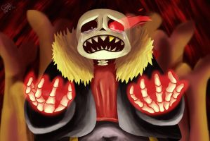Denial - Underfell Sans Painting by GravityFactor