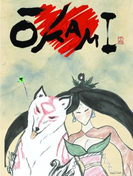 Okami Fan art by Kelly Dale by ladykelly