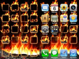 iPod iPhone Flame Wallpaper by ChrisssG
