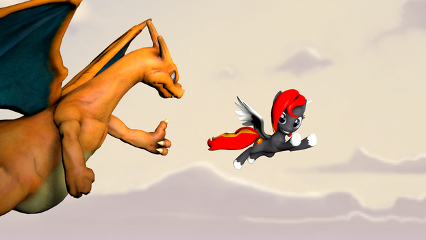 Flying With Charizard by xFlamerunnerx
