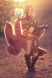 Foxfire Ahri - Should I make your pulse rise? by ToukoCosplay