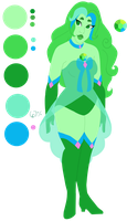 Flirty Green Gem by faerie-daze