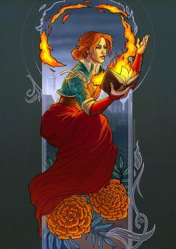 Fire flower by Alassa