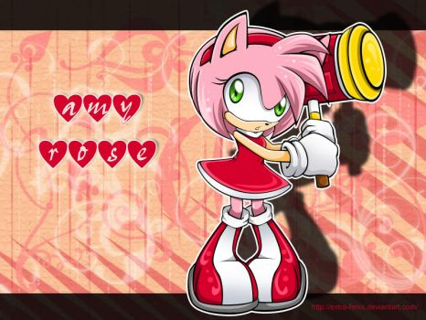 Amy Rose wp by Extra-Fenix
