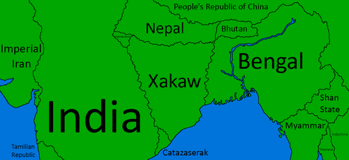 Xakaw Map With the Surrounding Countries by XarTario