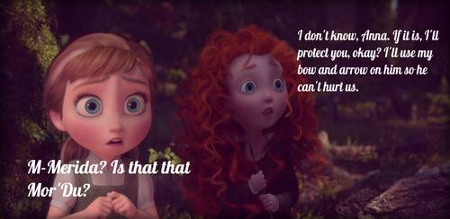 Anna and Merida Lost In The Woods by WinterMoon95
