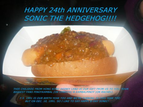A Chilidog from Hong Kong Disney Land for Sonic by KambalPinoy