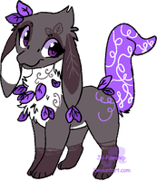 Pahlep Adoptable - Purple Leaves - closed by JB-Pawstep