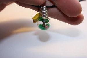 Kirby Whispy Woods Vial Pendant by thousandleaf0001