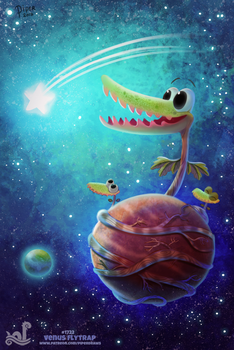 Daily Painting 1722# Venus Flytrap by Cryptid-Creations