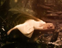 Sleeping fairy by Kallaria