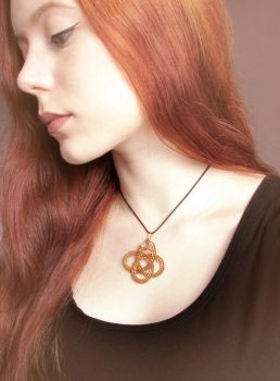 Wearing 'The Serpent and the Sphere' Pendant by diana-irimie