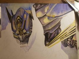 Attack of Optimus Prime WIP by vermilionbirdy