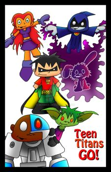 Teen Titans Go! poster by 5chmee